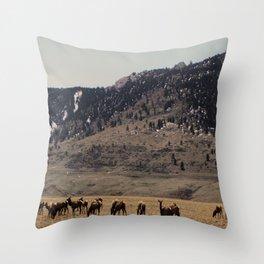 Elk Throw Pillow