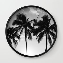 Hawaiian Palms II Wall Clock