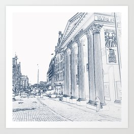 The Lyceum Theatre, London Art Print