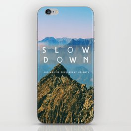 Great heights iPhone Skin
