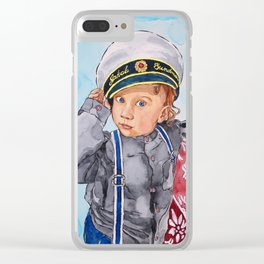 Little Captain Clear iPhone Case