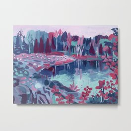 Fairy Lake - Abstract Landscape #9 Metal Print