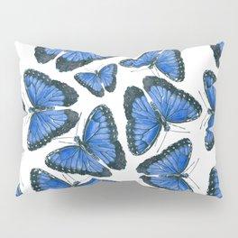 Blue morpho butterfly pattern design Pillow Sham