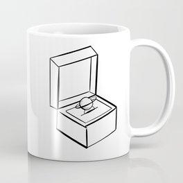 Planet Engagement Ring Coffee Mug