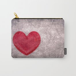 Stonewashed Heart Carry-All Pouch