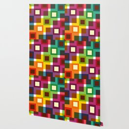 Geometric Pattern 11 (Colorful squares) Wallpaper