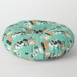 Coonhound row Floor Pillow