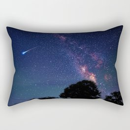 Blood Moon & Galaxy (Color) Rectangular Pillow