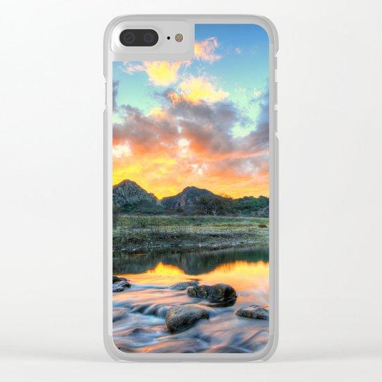 Sunset Landscape #river Clear iPhone Case