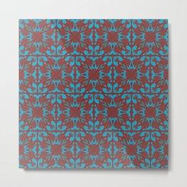 Abstract flower pattern 6b ver. 2 Metal Print