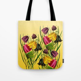 Fritillaria Flowers Tote Bag