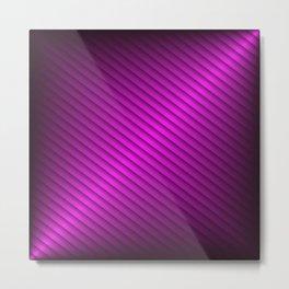 Purple Oblique Stripes Metal Print