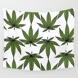 Pot Leaves Wall Tapestry