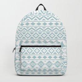 Aztec Essence Ptn III Duck Egg Blue on White Backpack