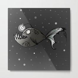 Lantern Fish Metal Print