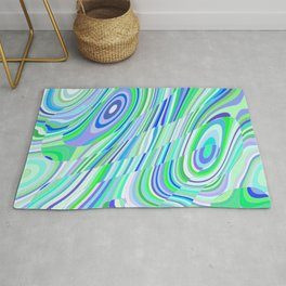 Green and Blue Abstract Rug