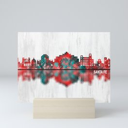 Santa Fe New Mexico Skyline Mini Art Print
