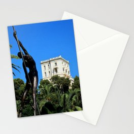 View of Villa La Vigie Monte-Carlo Stationery Cards
