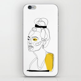 Yellow Sketch iPhone Skin