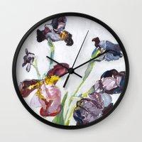german Wall Clocks featuring German Iris by Shinichi Imanaka