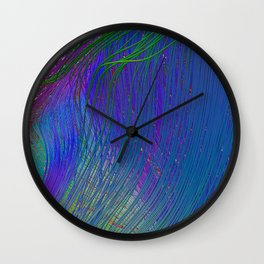 Fibers in Bloom Wall Clock