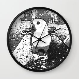 Parrot Portrait Comic Wall Clock