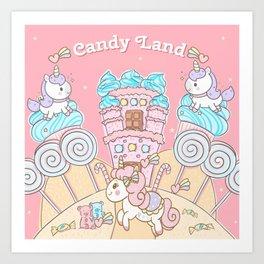 Candy Land Castle Art Print