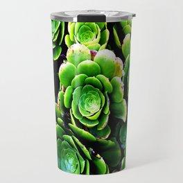 Green patterns Travel Mug