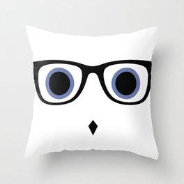Hipster Owl No.8 Throw Pillow
