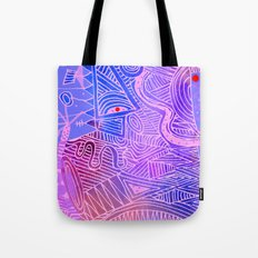 abstract with purple and pink Tote Bag