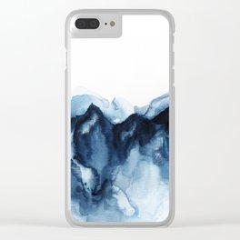 Abstract Indigo Mountains Clear iPhone Case