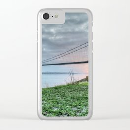 Sunset at the Humber Bridge Clear iPhone Case