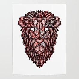 Lion Mask Poster