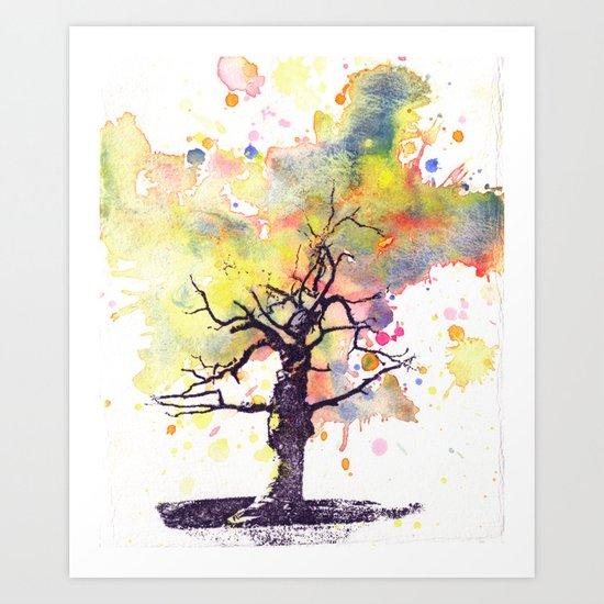 Alone Dead Tree Art Print
