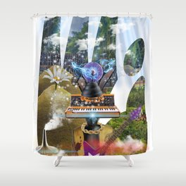 Sadahtay_Moog Heaven Shower Curtain