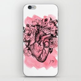 Floral Heart Watercolor iPhone Skin