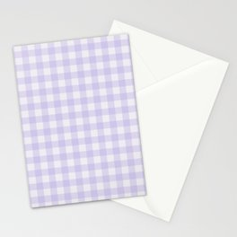 Gingham Pattern - Lilac Stationery Cards