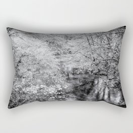 North Fork Silver Creek bw Rectangular Pillow