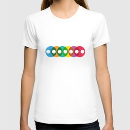 Geometric Pattern 64 (colorful bubbles) T-shirt