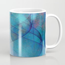 Blue tornado with fairy lights Coffee Mug