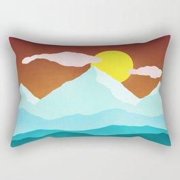 Flat Landscape Rectangular Pillow