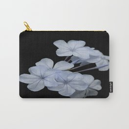 Pale Blue Plumbago Isolated on Black Background Carry-All Pouch