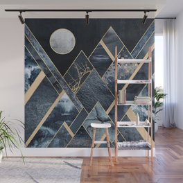 Stormy Mountains Wall Mural