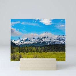 Bear_Creek Mountain Glacier II - Alaska Mini Art Print