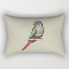 Green-cheeked conure Rectangular Pillow