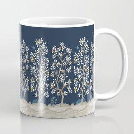 Citrus Grove Chinoiserie Mural - Navy Coffee Mug