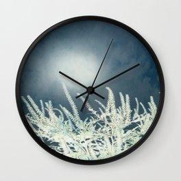 Silver Moon Wall Clock