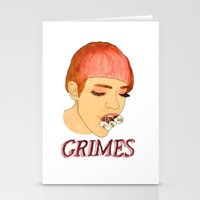 grimes Stationery Cards featuring Grimes by caxcma