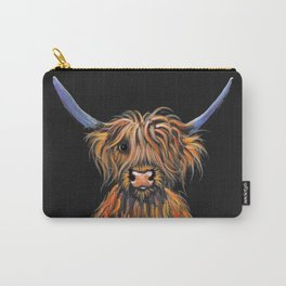 Scottish Highland Cow ' NED ' by Shirley MacArthur Carry-All Pouch
