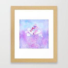 Candy rain Framed Art Print
